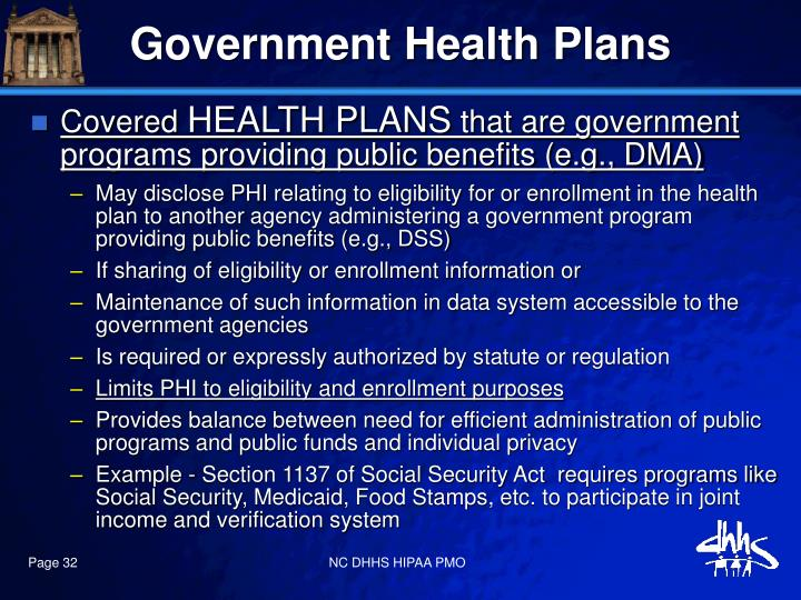 Government Health Plans