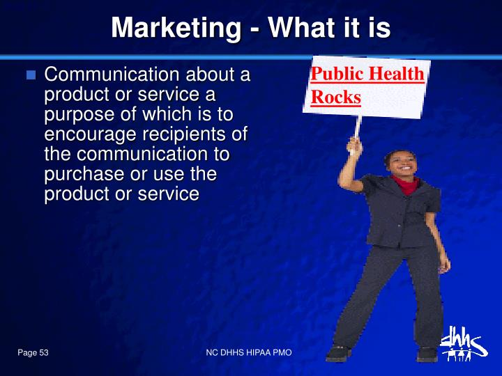 Marketing - What it is