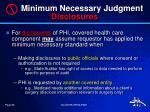 minimum necessary judgment disclosures