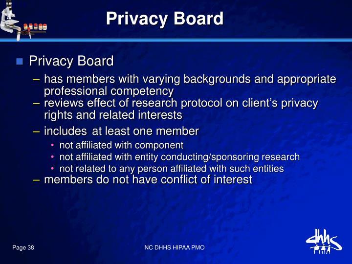 Privacy Board