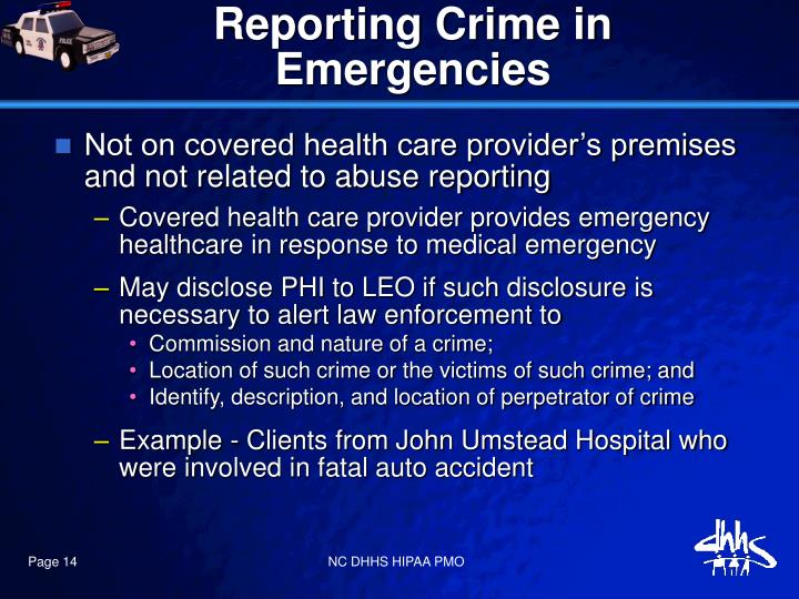 Reporting Crime in