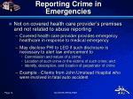 reporting crime in emergencies