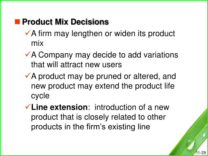 Product Mix Decisions