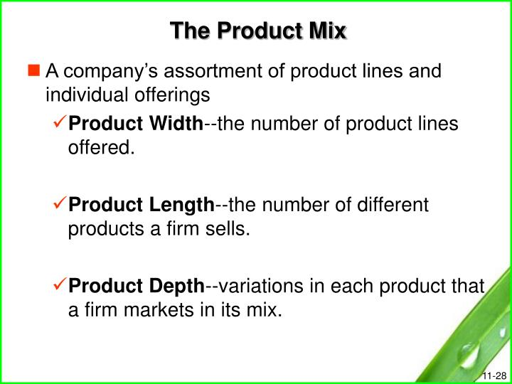 The Product Mix