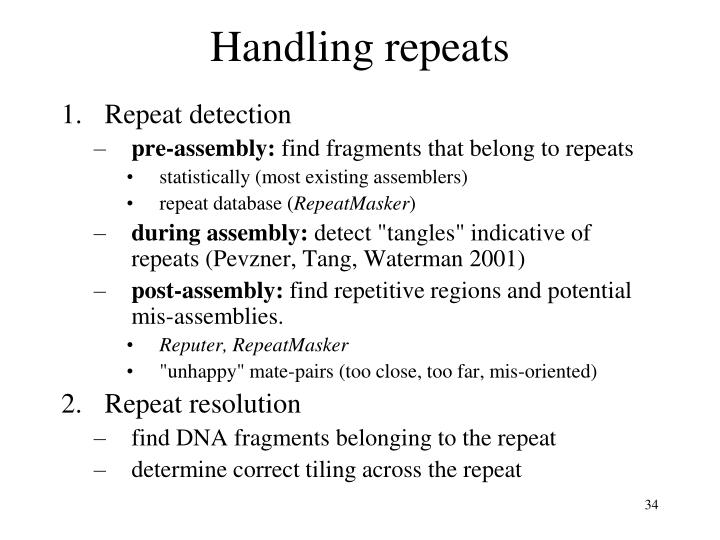 Handling repeats