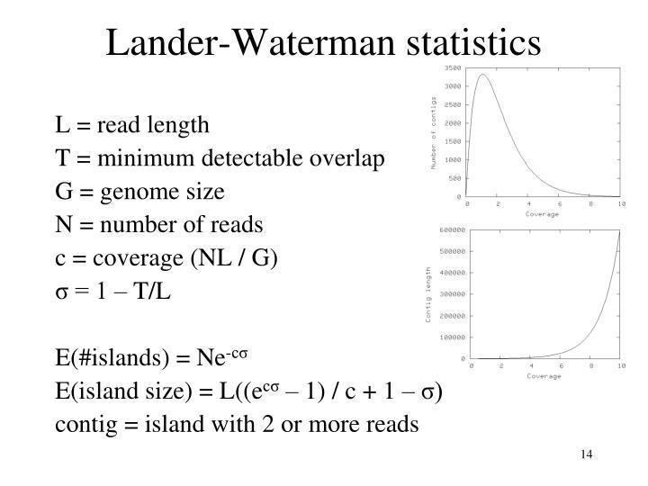 Lander-Waterman statistics