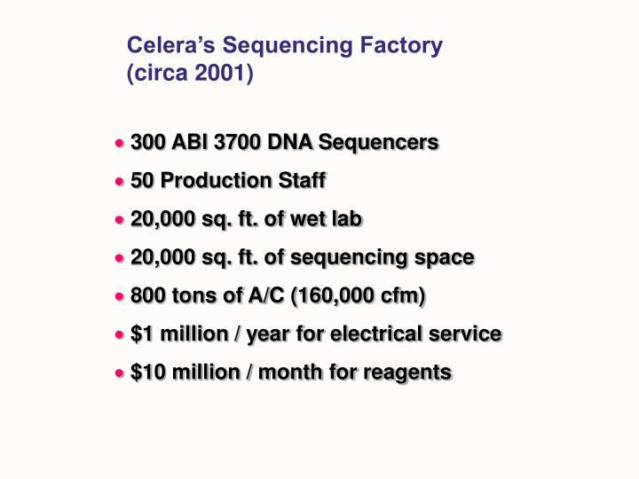 Celera's Sequencing Factory