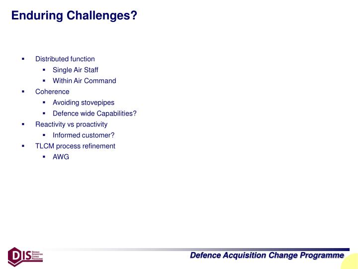 Enduring Challenges?