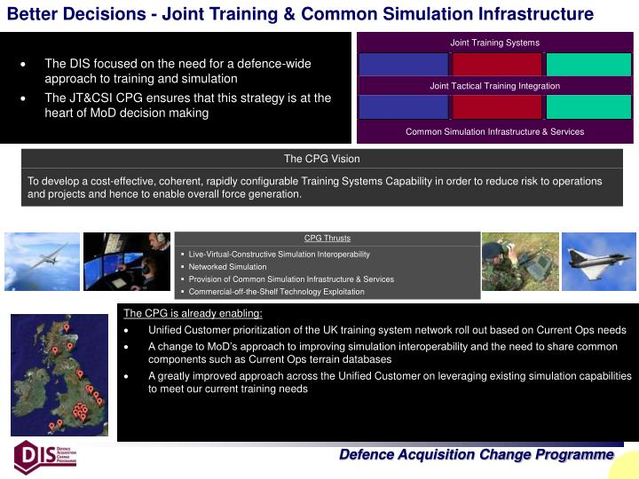 Better Decisions - Joint Training & Common Simulation Infrastructure