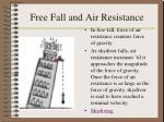 free fall and air resistance
