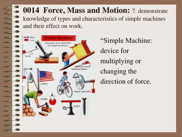 0014  Force, Mass and Motion: