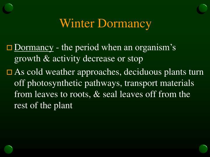 Winter Dormancy