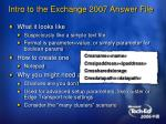 intro to the exchange 2007 answer file1