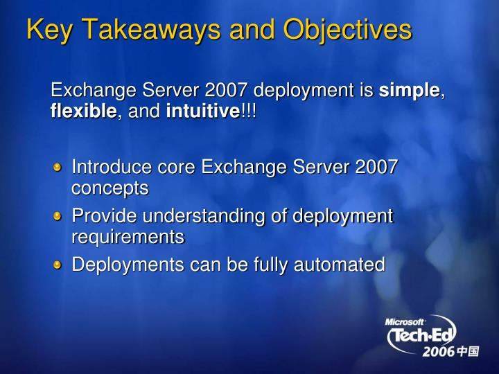 Key Takeaways and Objectives