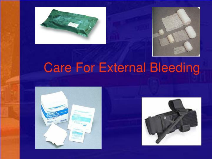 Care For External Bleeding