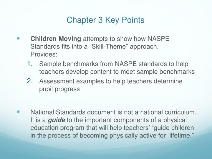 Chapter 3 Key Points