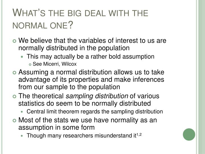What's the big deal with the normal one?