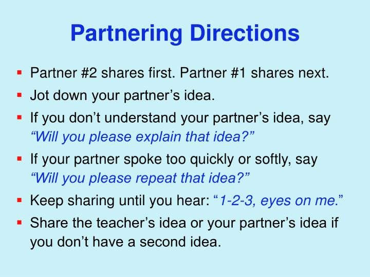 Partnering Directions