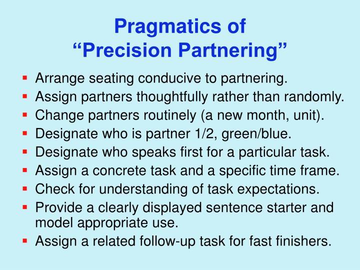Pragmatics of