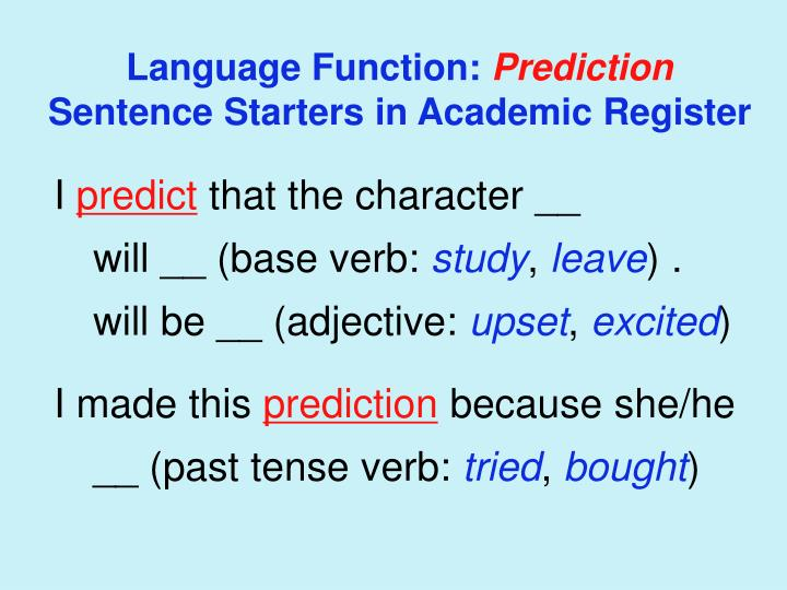 Language Function: