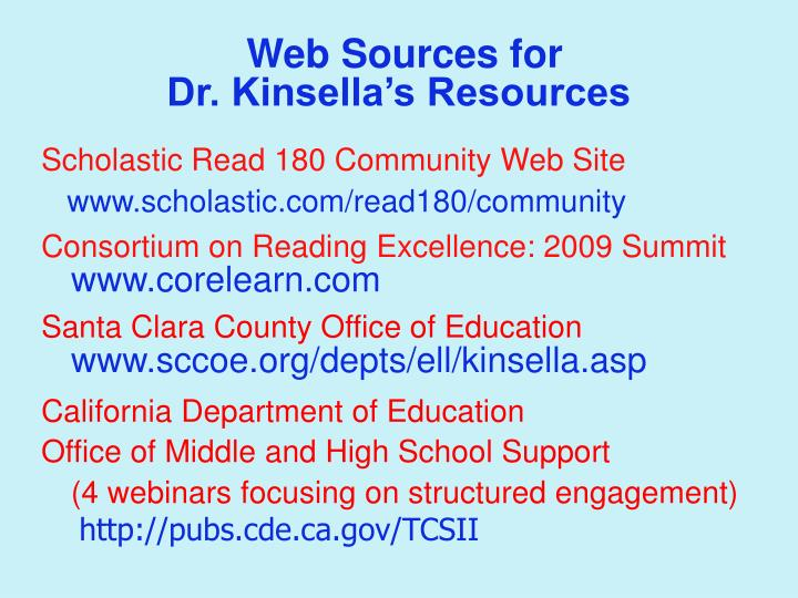 Web Sources for
