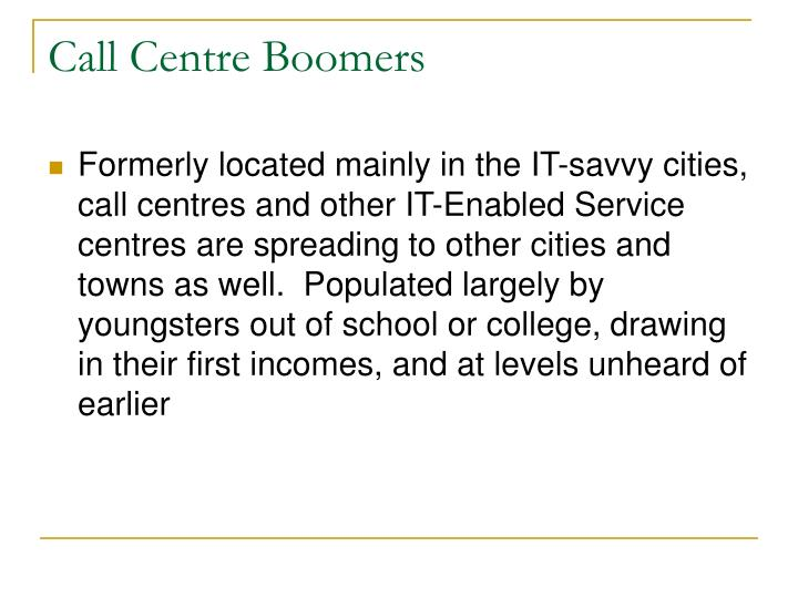 Call Centre Boomers