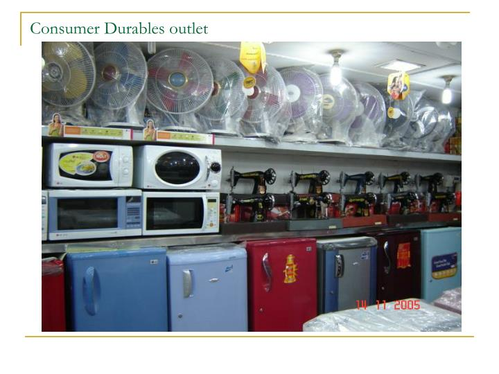 Consumer Durables outlet