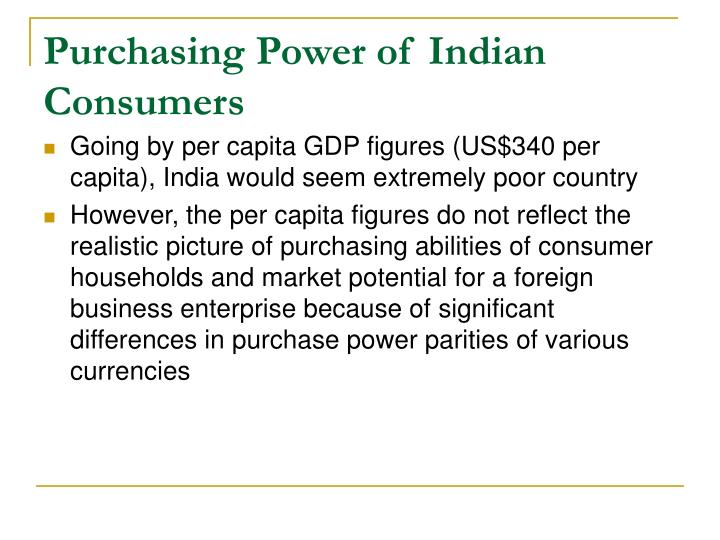 Purchasing Power of Indian Consumers