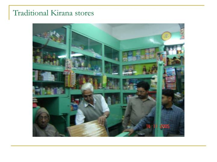 Traditional Kirana stores