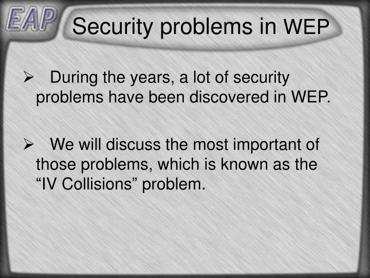 Security problems in