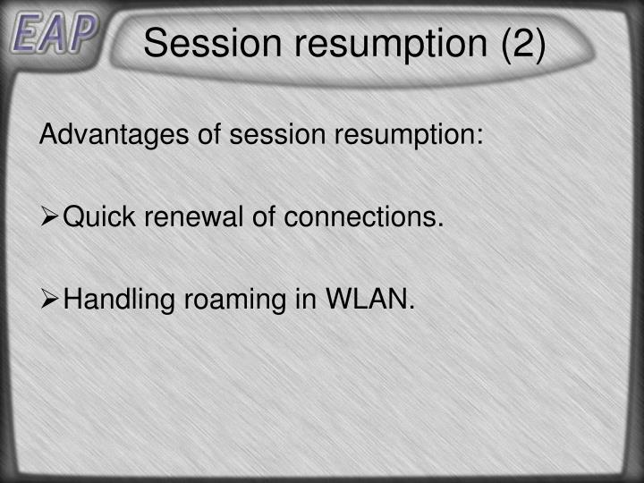 Session resumption (2)
