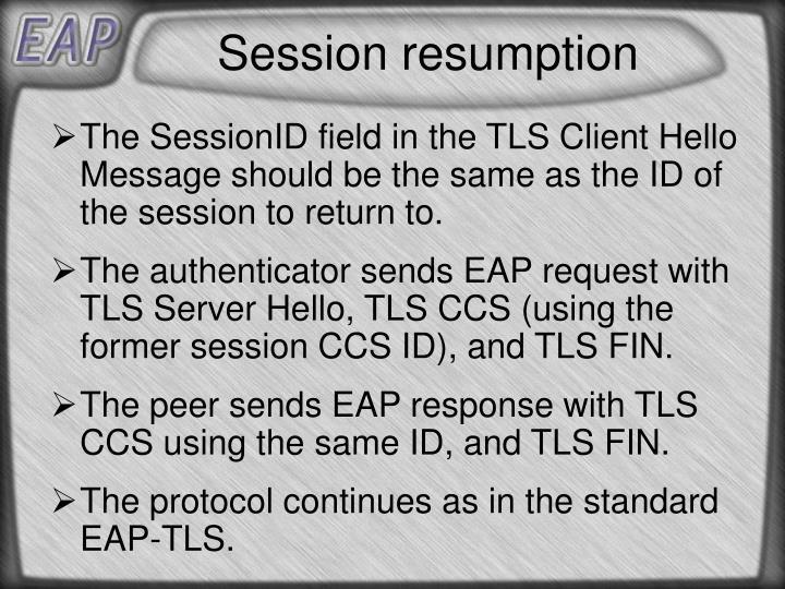 Session resumption