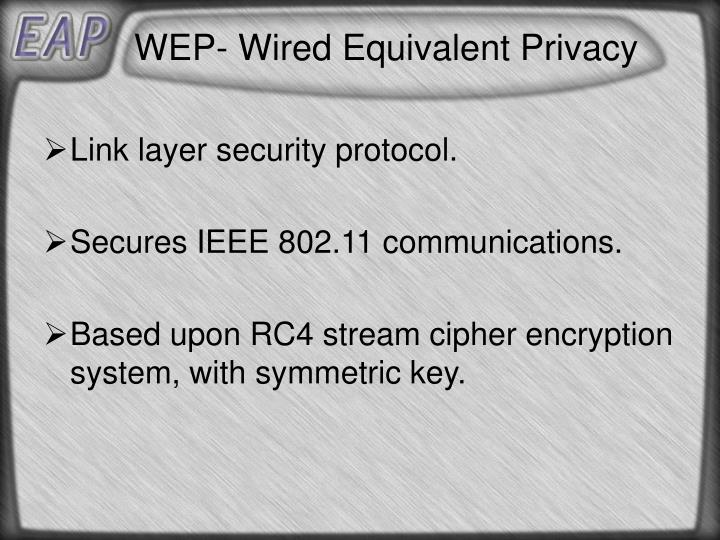 WEP- Wired Equivalent Privacy