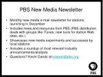 pbs new media newsletter