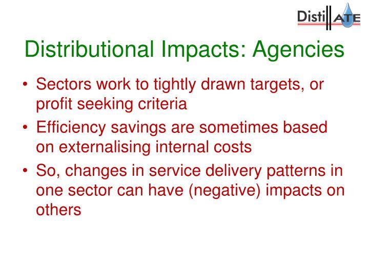 Distributional Impacts: Agencies