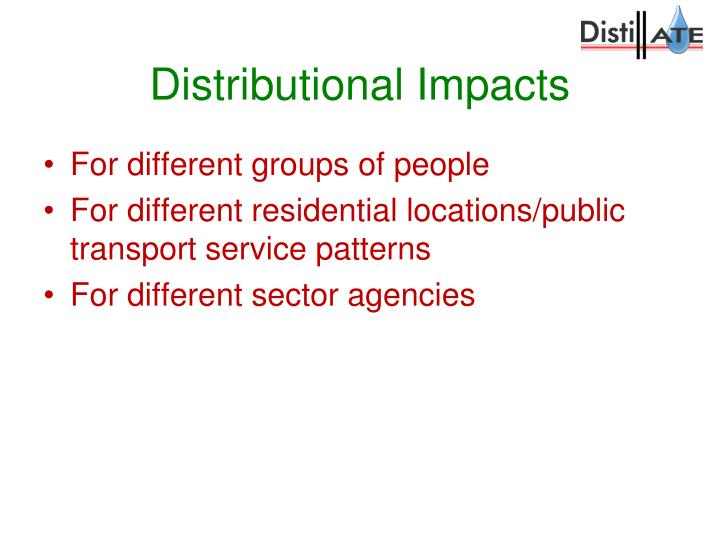 Distributional Impacts