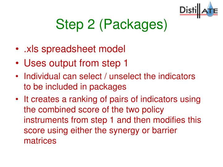 Step 2 (Packages)