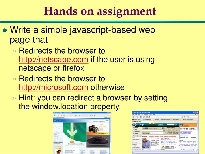 Hands on assignment