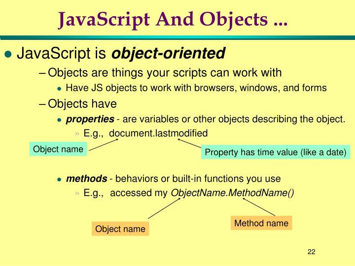 JavaScript And Objects ...