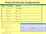 some javascript assignments