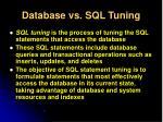 database vs sql tuning1