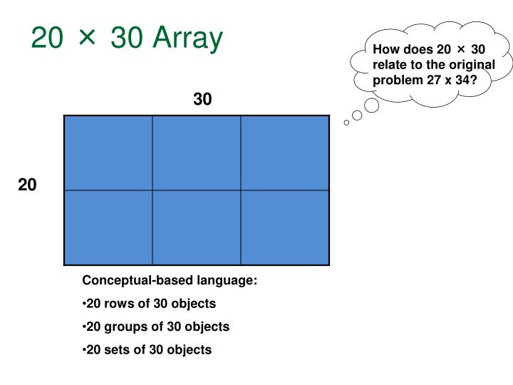 20 × 30 Array