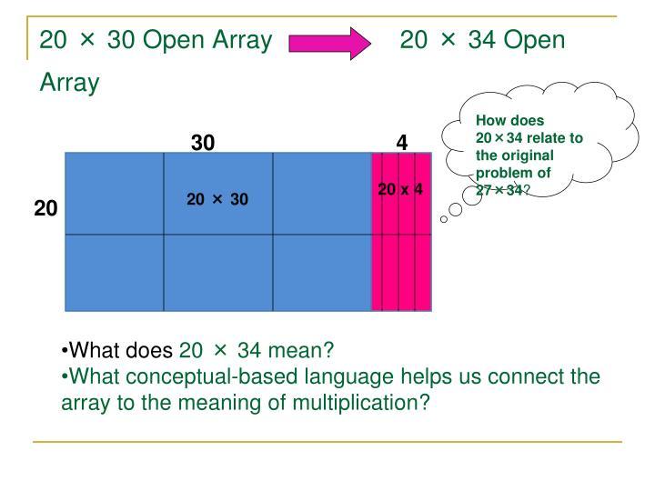 20 × 30 Open Array                  20 × 34 Open Array