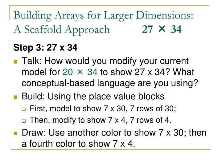 Building Arrays for Larger Dimensions: