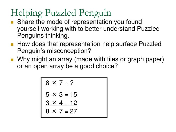 Helping Puzzled Penguin
