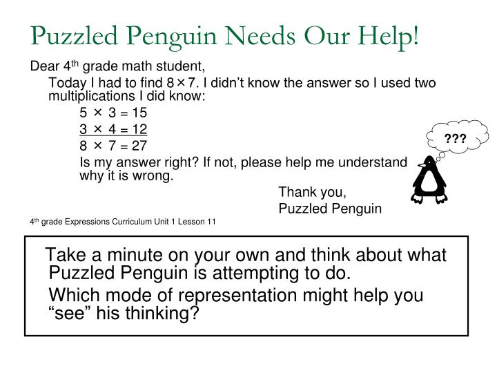 Puzzled Penguin Needs Our Help!