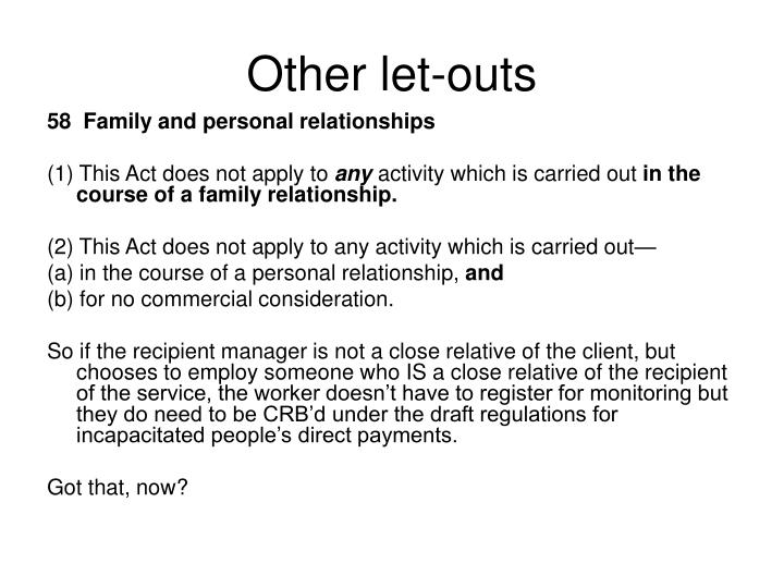 Other let-outs