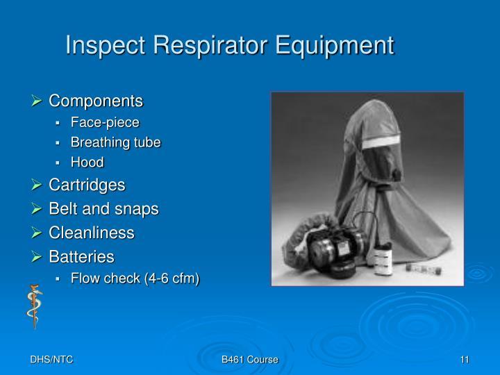 Inspect Respirator Equipment