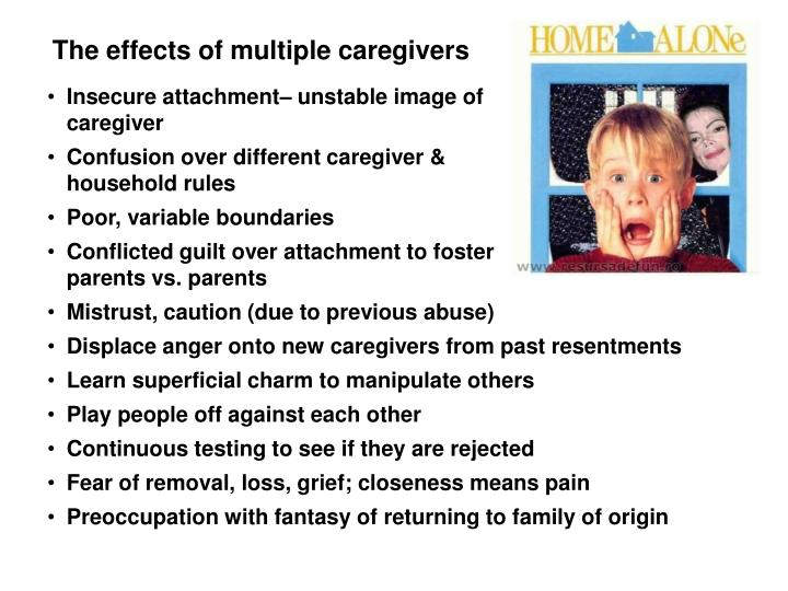 Effects of multiple caretakers