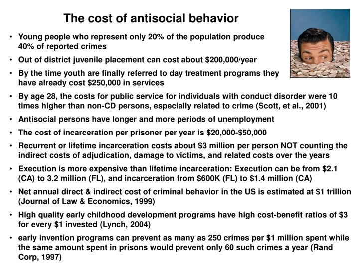 The cost of antisocial behavior